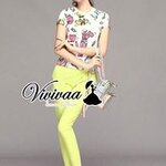 """Vivivaa recommend """"Paper Doll yellow pants set"""""""