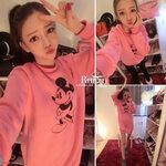 เสื้อ เดรส มิกกี้ สีชมพูสไตล์เกาหลี [ขายส่ง 260,300.-]