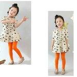 ขายส่งเลคกิ้งเด็ก CISI สีส้ม kk56-38