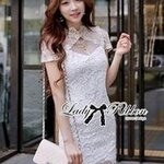 Lady Ribbon's Made Lady Chinoise Classic Chic Lace Dress in White