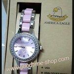 นาฬิกาข้อมือ American Eagle สีชมพู กันน้ำ พร้อมกล่อง