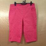 เอว36-46 แบรนด์ d&CO. กางเกงคนอ้วน ผ้ายีนส์หนาเนื้อดี สีส้มแดง สวยมาก ขาสี่ส่วน