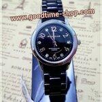 นาฬิกาแฟชั่น US สายพลาสติก กันน้ำ100% งานสวยคุณภาพ มีสีม่วงและดำ