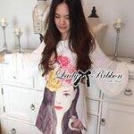 Lady Ribbon's Made Lady Nicole Pretty Woman Printed Shift Dress