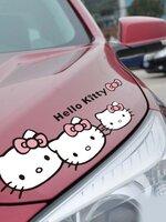 สติ๊กเกอร์ Hello Kitty โบว์ชมพู (12*32 CM)
