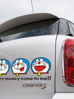สติ๊กเกอร์ Doraemon เรียกทรัพย์ ขนาด 28 * 9.5cm ตัวอักษรดำ