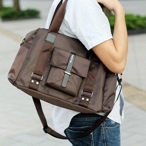 พร้อมส่ง กระเป๋าแฟชั่นผู้ชาย สีน้ำตาล Classic Design