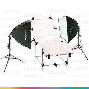 D1 โต๊ะถ่ายภาพสินค้าแบบปรับองศาได้ 60x130 + SOFTBOX 4040