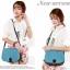 กระเป๋าแฟชั่นAxixi สีฟ้า สไตล์สาวหวาน เหมาะกับสาว ๆ วัยใส น่ารัก สะพายเท่ ๆ สวยไม่มีเอาท์ thumbnail 2