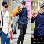 PRE-ORDER เสื้อเชิ้ตแฟชั่นใหม่เกาหลี2014 ออกแบบการเย็บคอถักสีทึบแขนยาวบาง