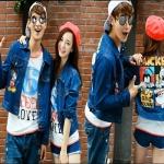 PRE-ORDER เสื้อกันหนาวคู่รัก เกาหลีใหม่แฟชั่นฤดูหนาว เสื้อแจ็คเก็ตกันหนาวยีนส์ลายการ์ตูนมิกกี้เมาส์ ญ/ช.เสื้อแจ็คเก็ต