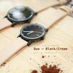 นาฬิกาคู่ นาฬิกาคู่รัก ยี่ห้อ N.IX watch รุ่น Duo Project - Black/Cream