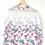 "Floral Girly Cowboy Blouse (Bust 35"")"